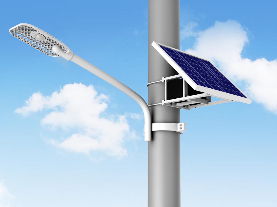 河南LED抱箍臂太阳能路灯