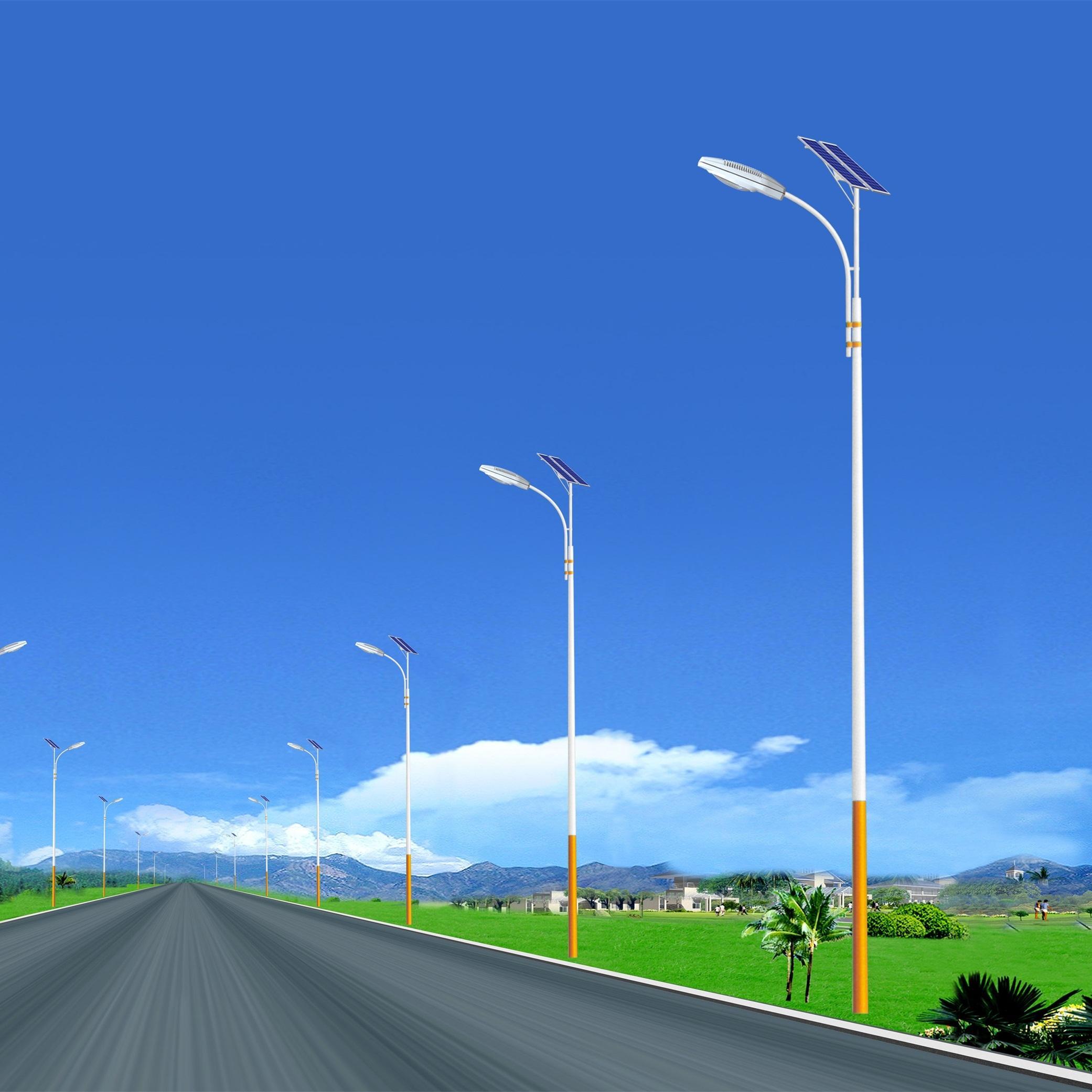 河南太阳能路灯侧弯臂造型