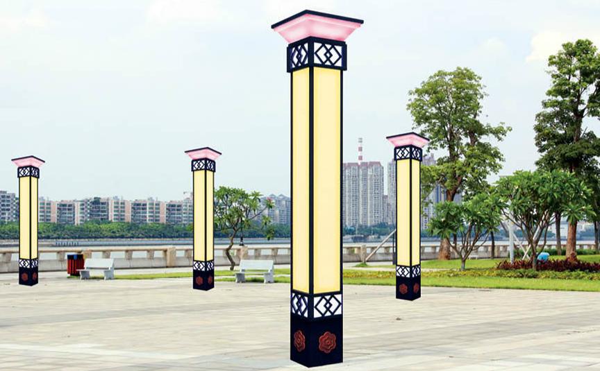 河南景观灯方形柱状灯效果图