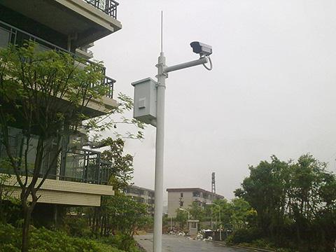 河南摄像机立杆某社区现场实拍