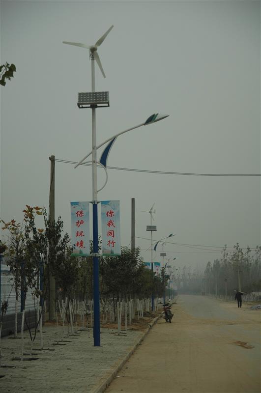 乡村风光互补太阳能路灯