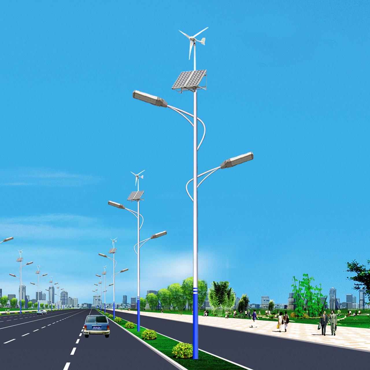 风光互补太阳能路灯双臂