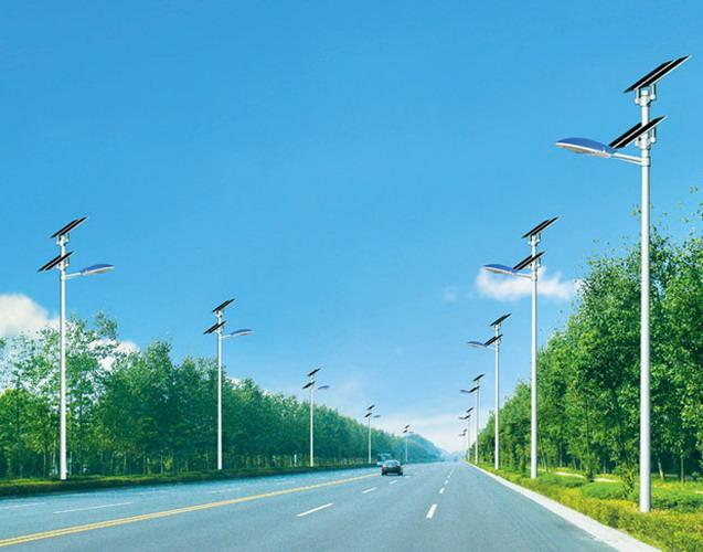 双层太阳能板太阳能路灯