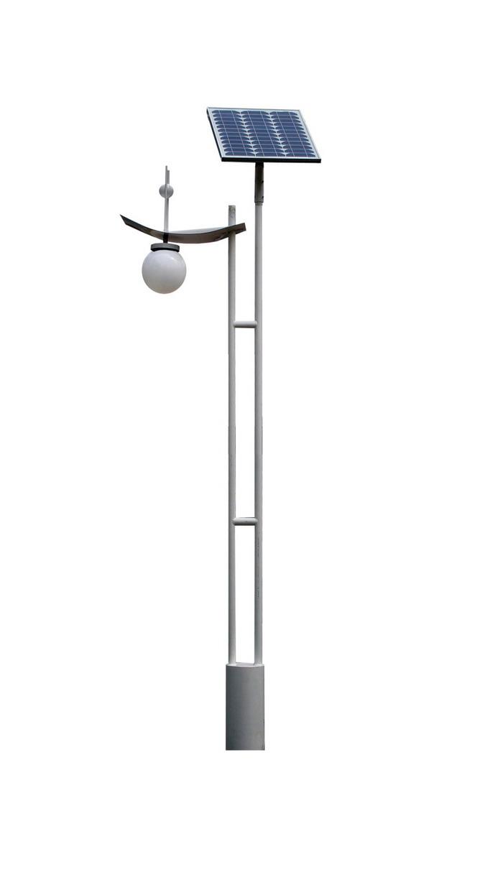 球泡灯头梯形杆庭院太阳能路灯