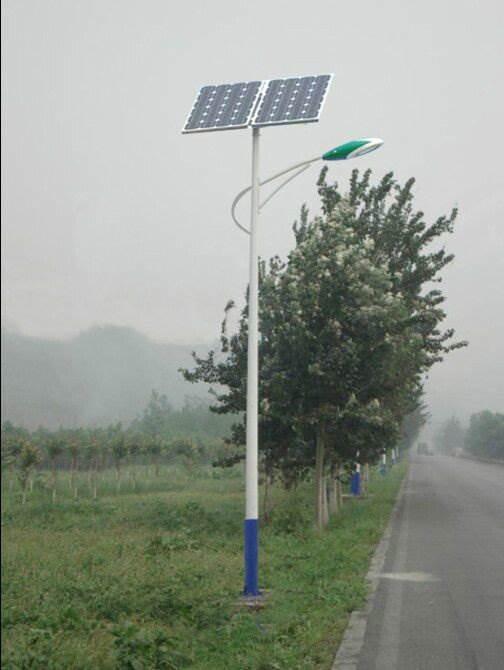 锥形杆海螺臂6米太阳能路灯