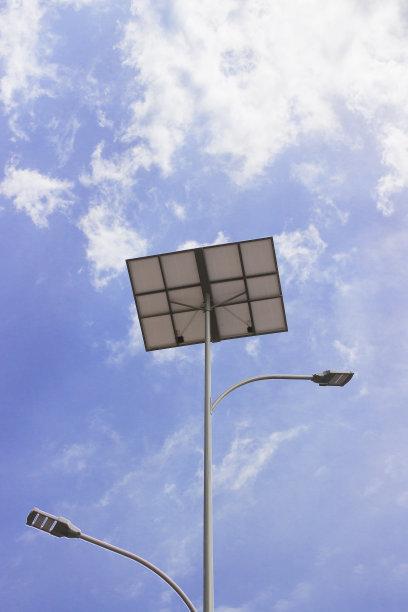 树芽型双臂太阳能路灯