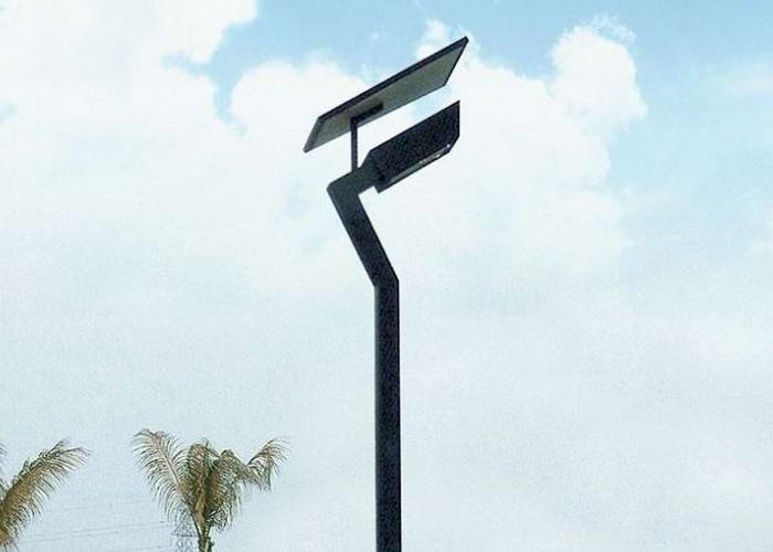 4米异形灯臂太阳能路灯