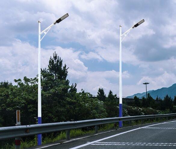 河南省下蓝上白6米A形臂太阳能路灯
