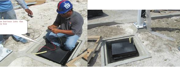 太阳能路灯蓄电池接线