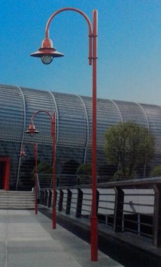 6米庭院路灯红色变径