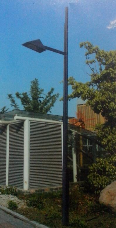 6米庭院路灯方管黑色