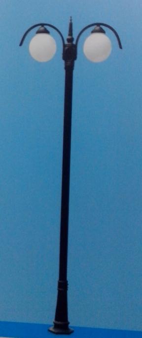6米庭院路灯双球形灯头