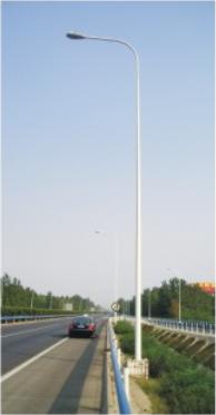 河南省郑州市12米自弯臂路灯