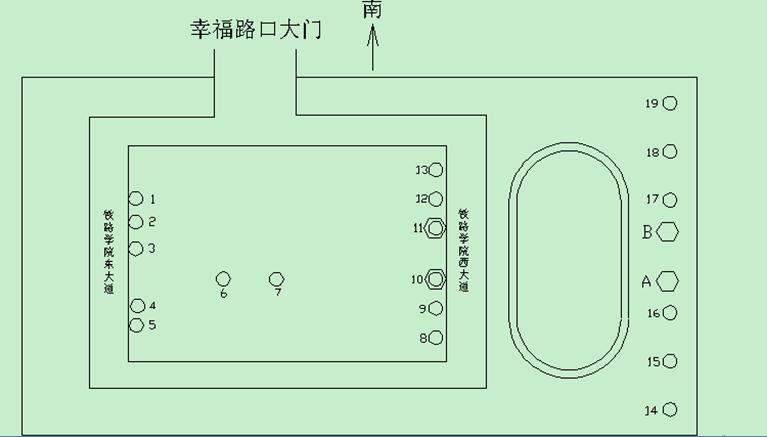 河南郑州太阳能路灯施工现场平面图