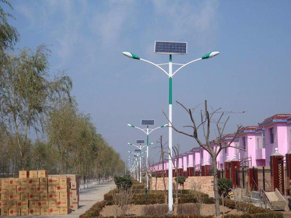 河南美丽乡村6米太阳能路灯双灯头质量较好