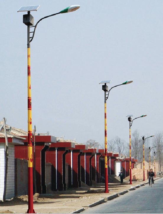 河南安阳市某美丽乡村安装的5米民俗太阳能路灯