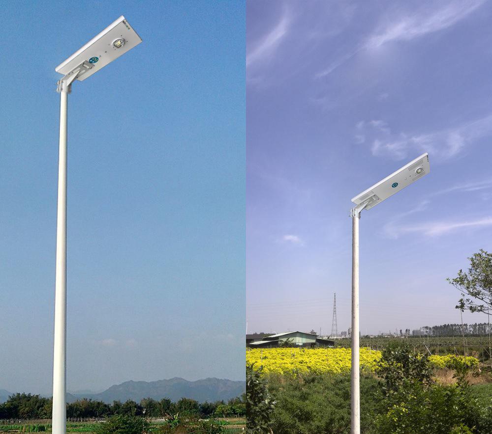 河南省平顶山市安装的5米一体化太阳能路灯