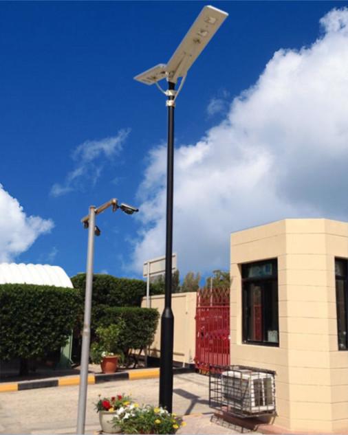 河南家庭使用的太阳能路灯