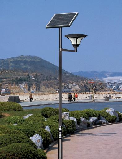 河南洛阳景区用4米太阳能庭院灯