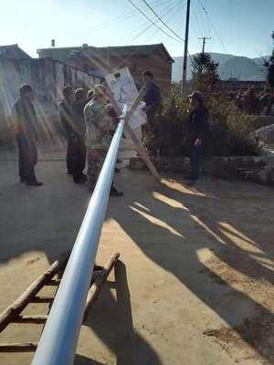 河南省安阳市太阳能路灯安装现场