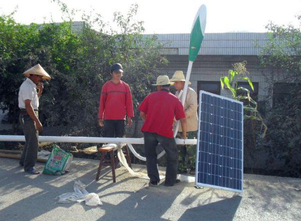 河南郑州太阳能路灯接线安装
