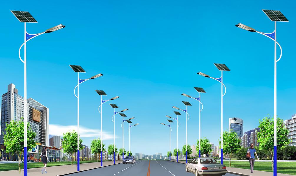 河南路灯之8字臂太阳能LED款