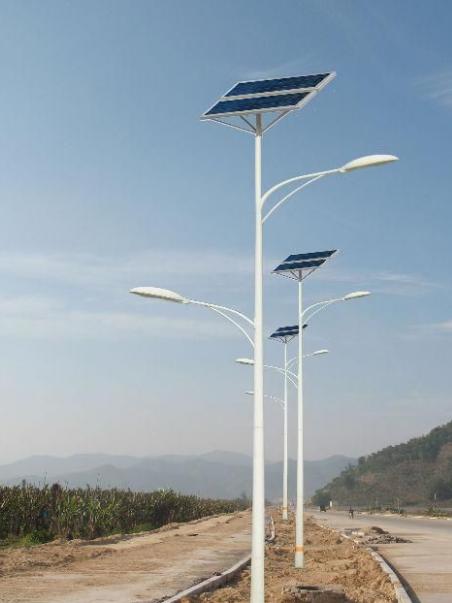 河南路灯之拱形双臂太阳能灯