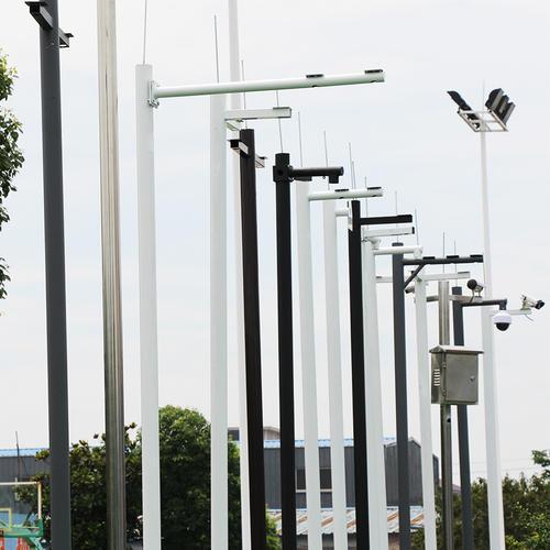 河南摄像机立杆安装现场实拍