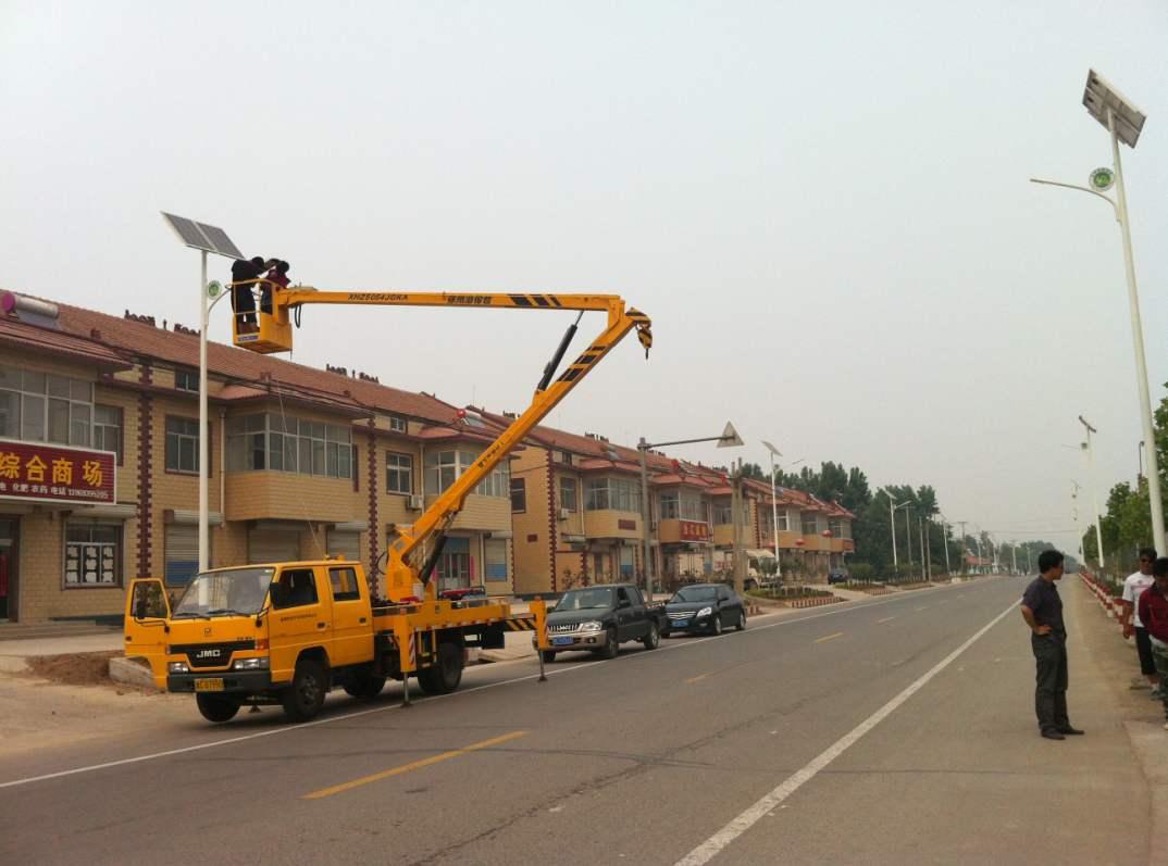 郑州路灯厂家安装太阳能路灯流程