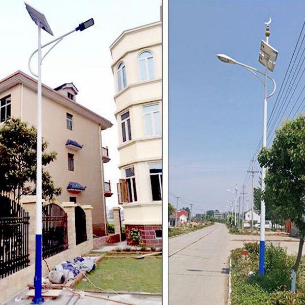 河南省城市小区常用海螺臂太阳能路灯