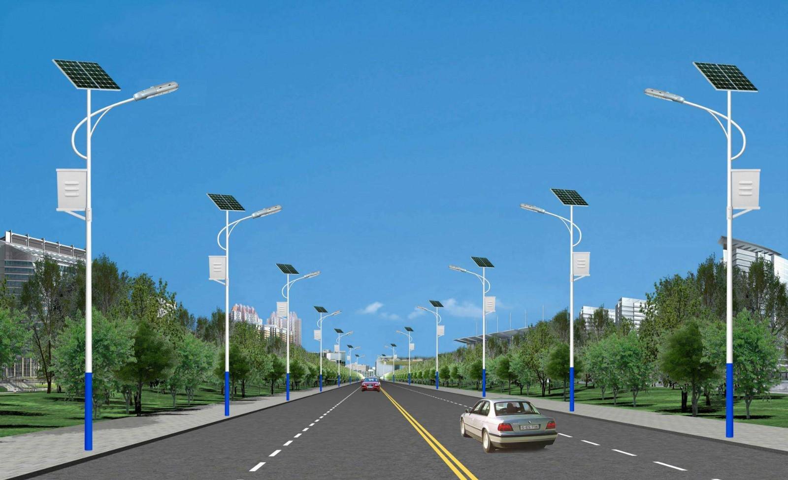 河南省郑州市城郊太阳能路灯