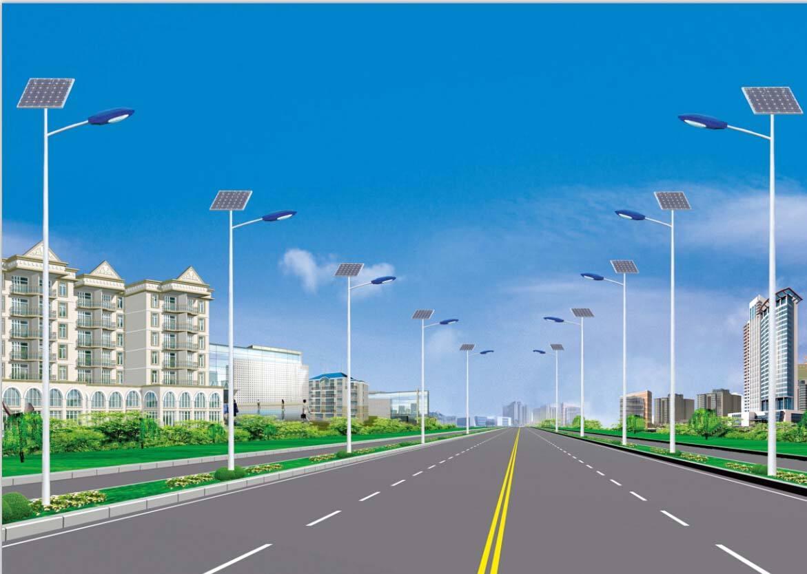 河南太阳能灯厂家安装的郑州市某路照明工程