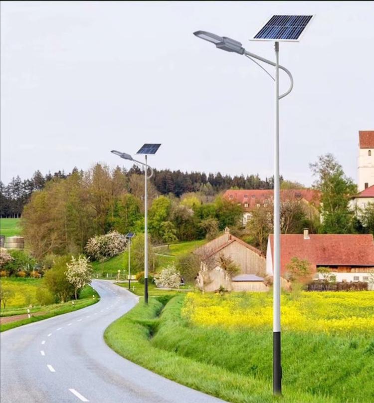 河南省植物园安装的太阳能路灯