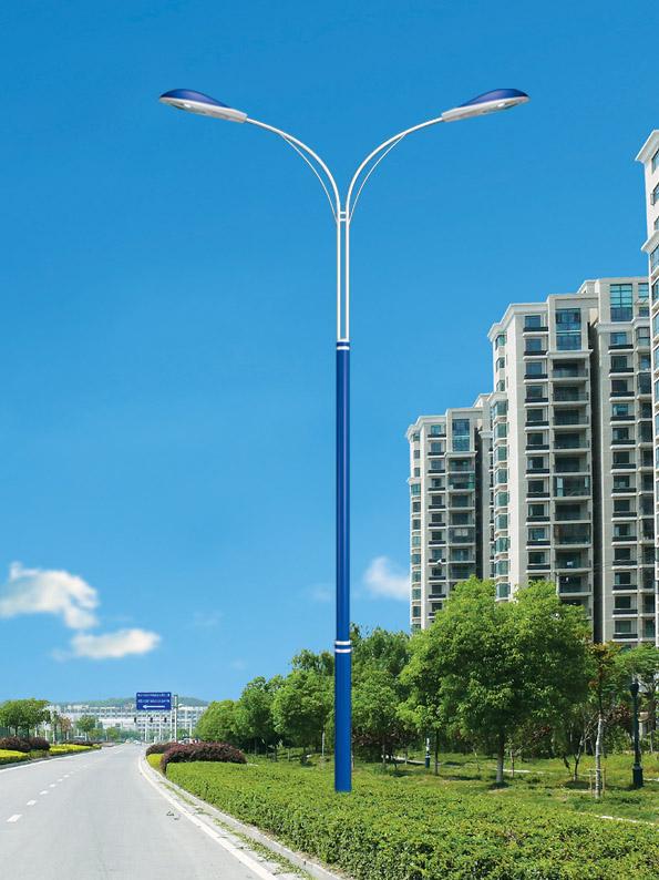 河南省郑州市航海路双头8米LED路灯