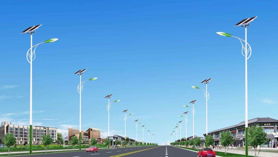 市政树叶臂造型太阳能路灯